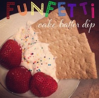 funfetti cake batter dip (for one)