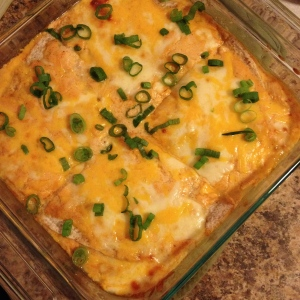 cream chicken enchilada casserole | my skinny sweet tooth