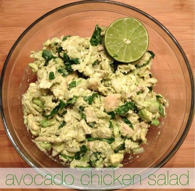 avocado chicken salad   my skinny sweet tooth