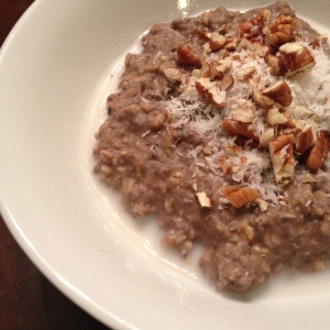 german chocolate cake oatmeal | my skinny sweet tooth