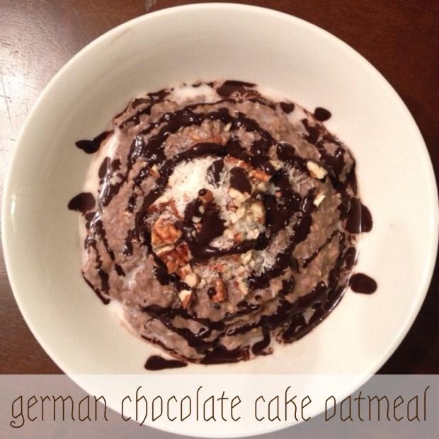 german chocolate cake oatmeal | my skinny sweet tooth