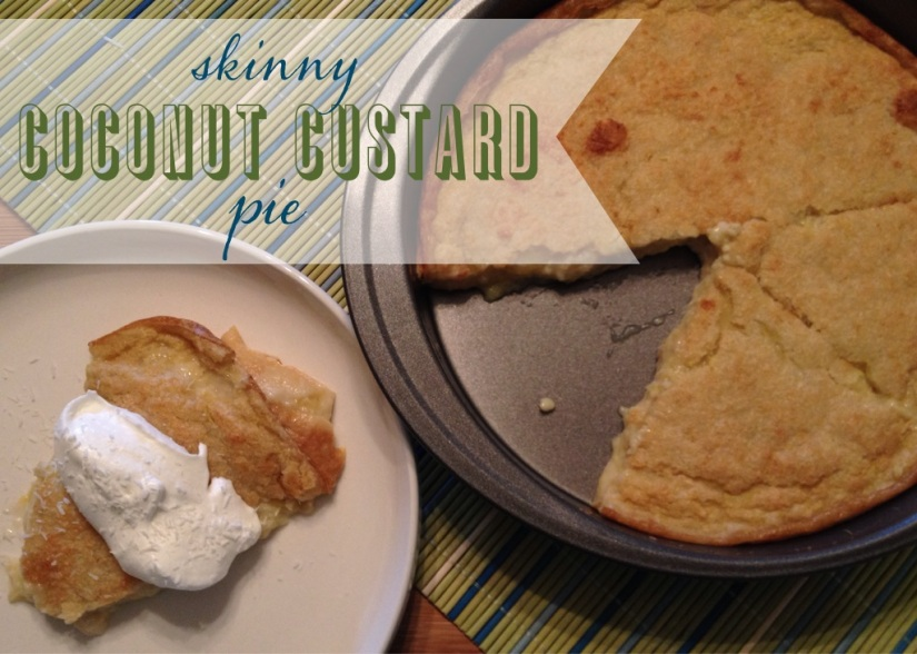 skinny coconut custard pie | my skinny sweet tooth