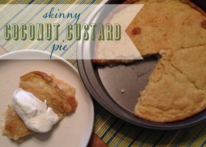 skinny coconut custard pie   my skinny sweet tooth