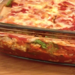 skinny turkey & spinach lasagna | my skinny sweet tooth