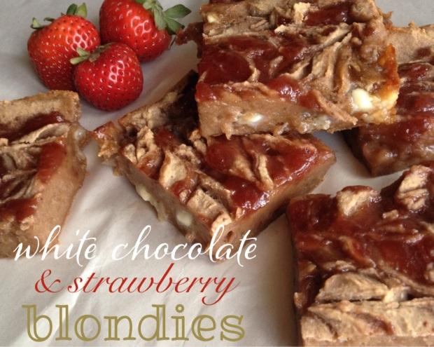 white chocolate & strawberry blondies | my skinny sweet tooth