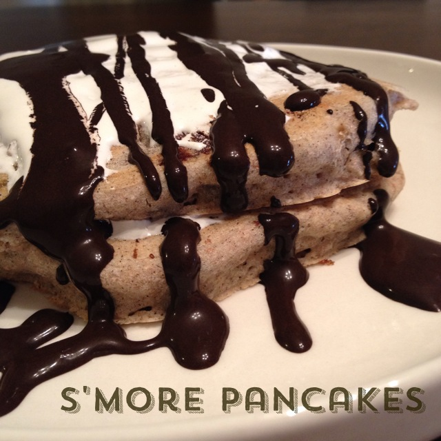s'more pancakes | my skinny sweet tooth