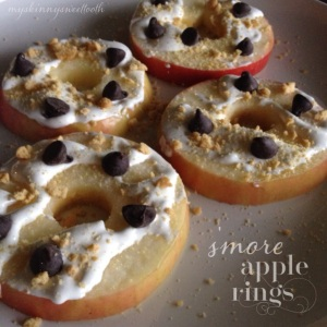 s'more apple rings | my skinny sweet tooth