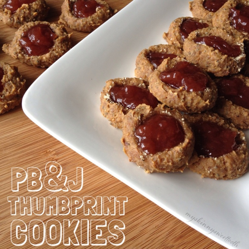 pb&j thumbprint cookies | my skinny sweet tooth