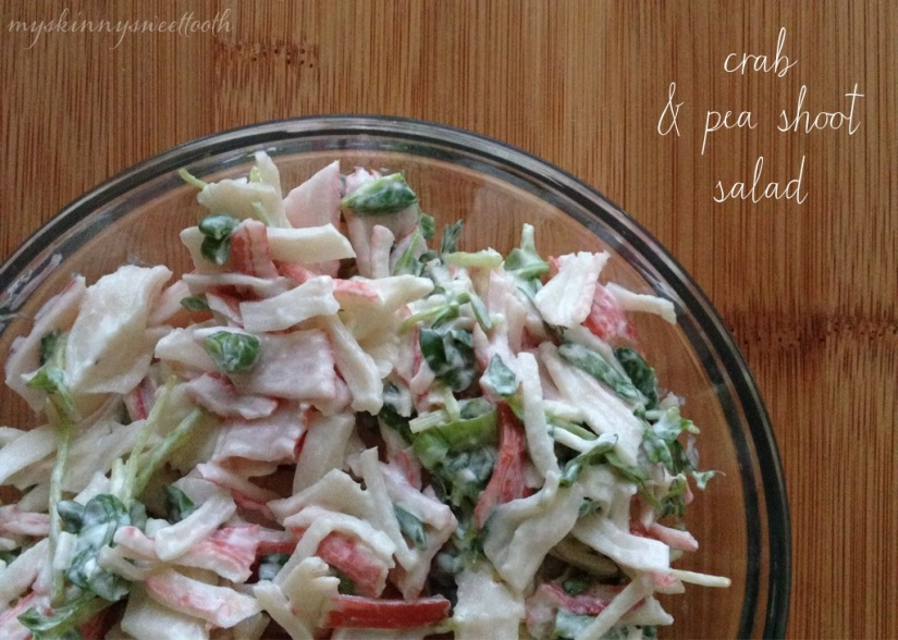 crab & pea shoot salad | my skinny sweet tooth