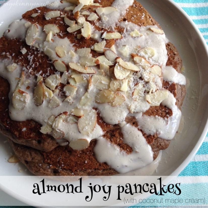 almond joy pancakes   my skinny sweet tooth