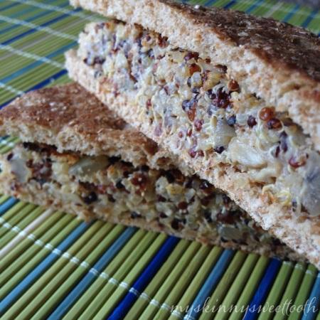 mushroom & swiss quinoa burger | my skinny sweet tooth