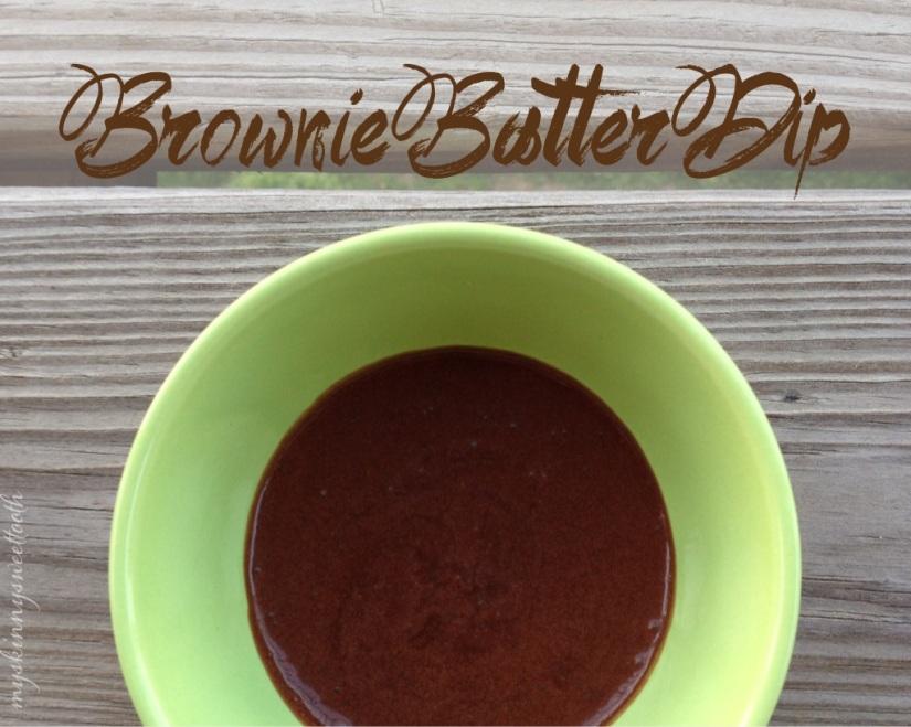 brownie batter dip | my skinny sweet tooth