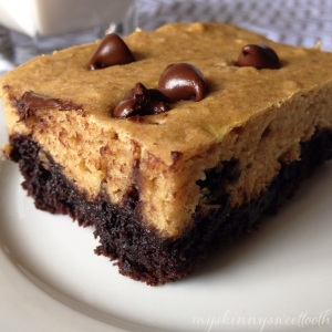 brownie bottom banana bread bars | my skinny sweet tooth