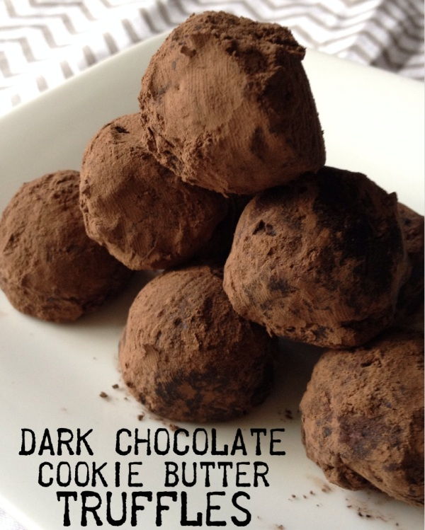 dark chocolate cookie butter truffles | my skinny sweet tooth