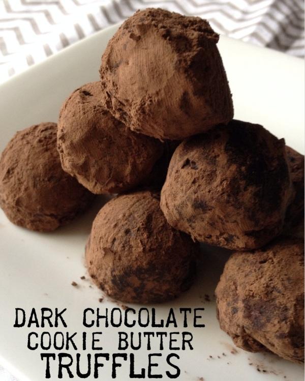 dark chocolate cookie butter truffles | my skinny sweet tooth