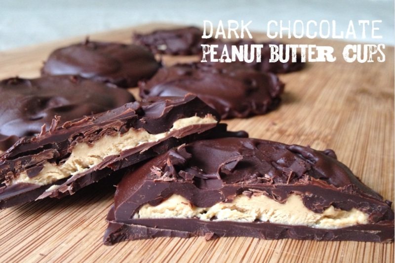 dark chocolate peanut butter cups | my skinny sweet tooth
