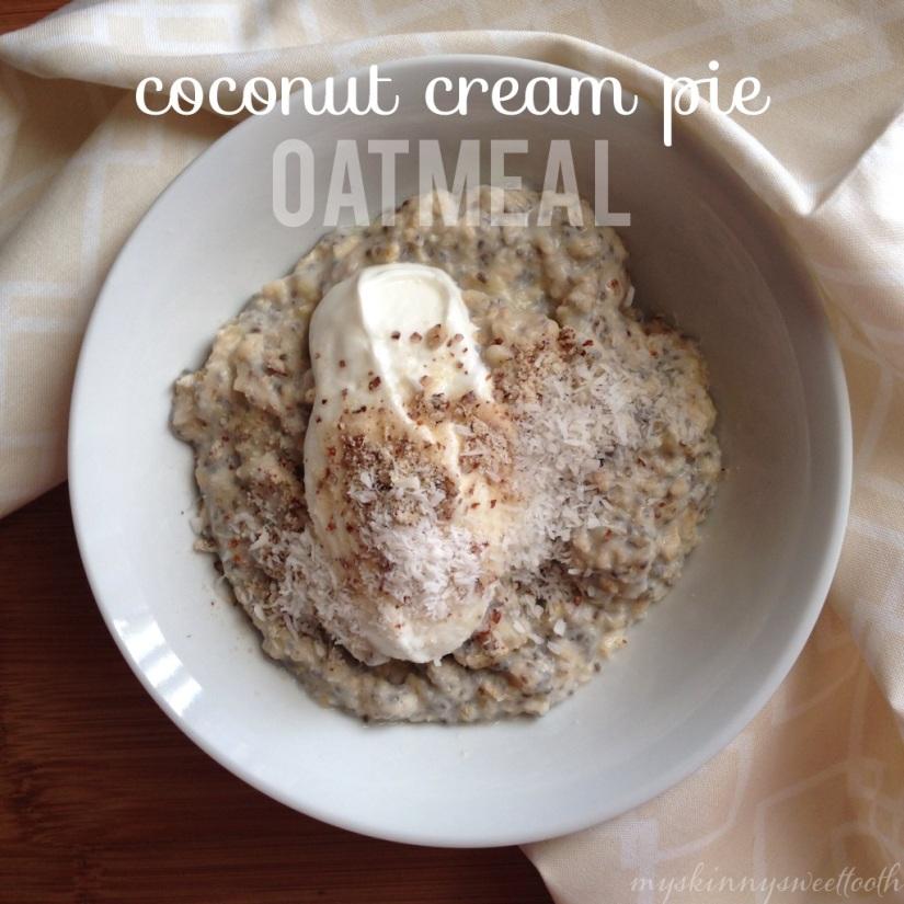coconut cream pie oatmeal | my skinny sweet tooth