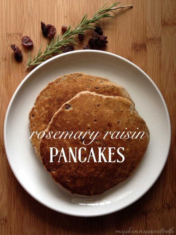 rosemary raisin pancakes | my skinny sweet tooth