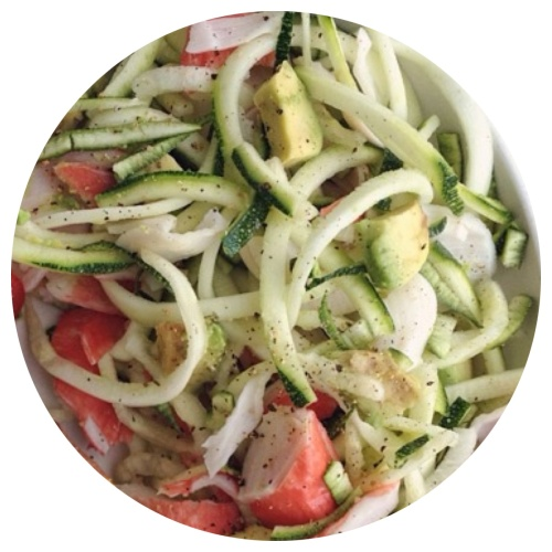 crab & avocado zoodles | my skinny sweet tooth