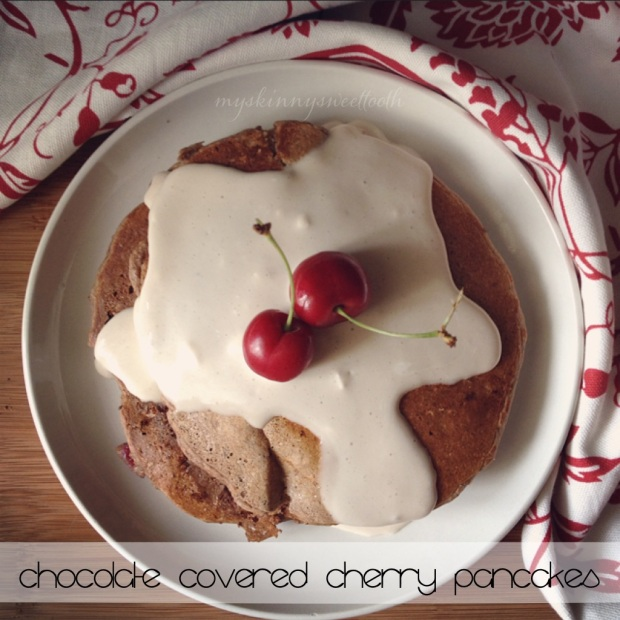 chocolate covered cherry pancakes | my skinny sweet tooth