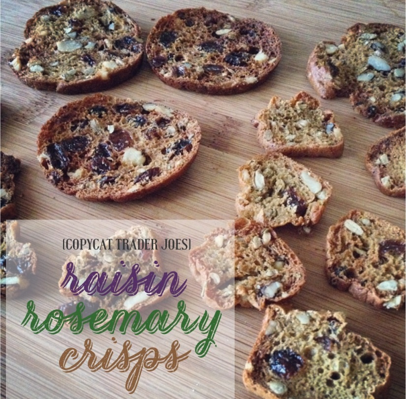 (copycat trader joe's) raisin rosemary crisps | my skinny sweet tooth