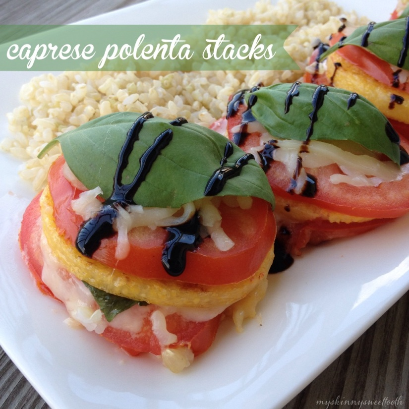 caprese polenta stacks | my skinny sweet tooth