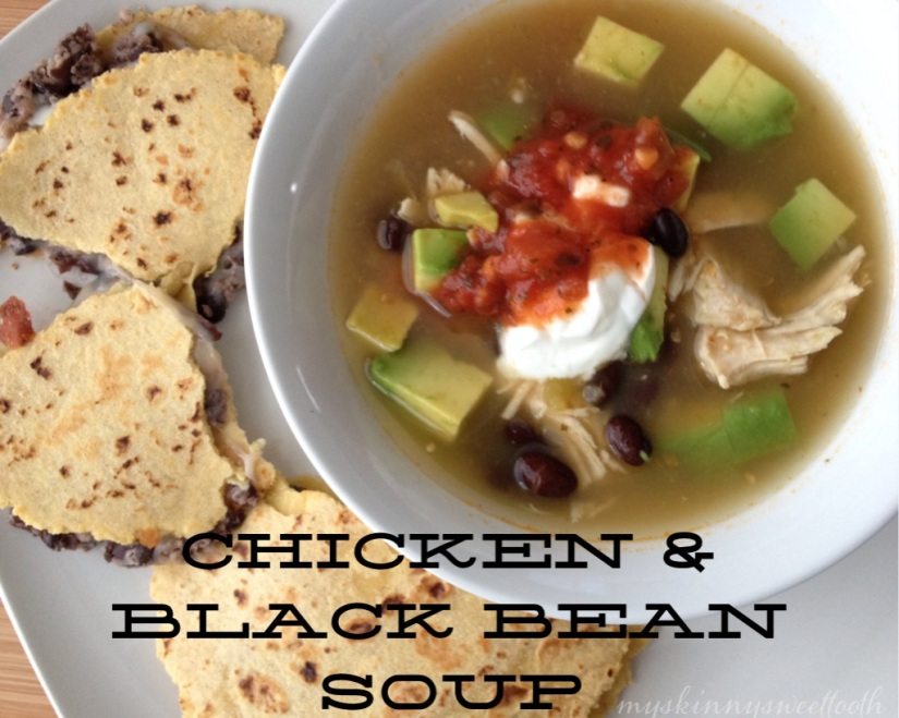 chicken & black bean soup | my skinny sweet tooth