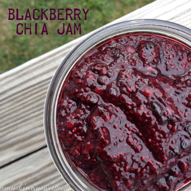 blackberry chia jam   my skinny sweet tooth