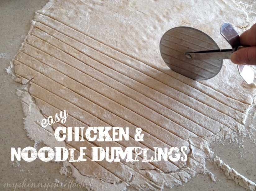 easy chicken & noodle dumplings | my skinny sweet tooth