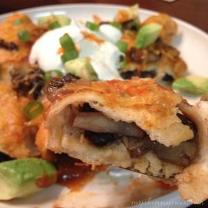 mushroom & black bean enchiladas | my skinny sweet tooth