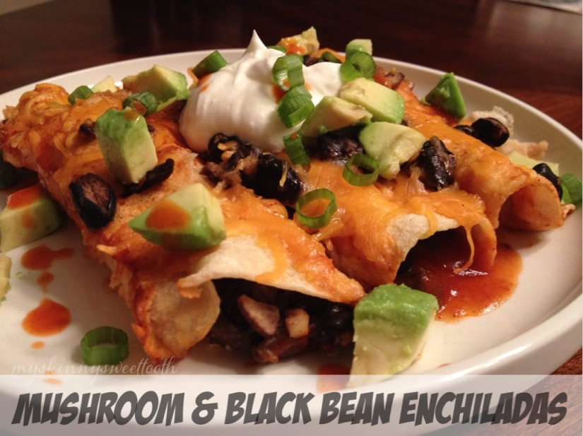 mushroom & black bean enchiladas | my skinny sweet tooth