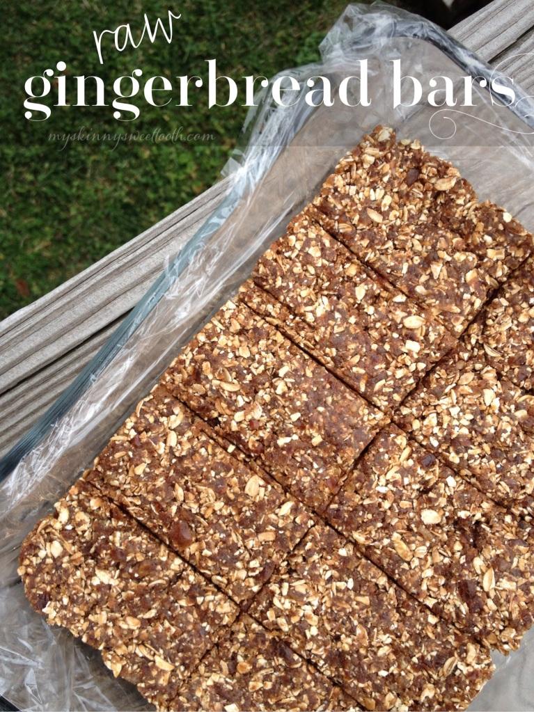 raw gingerbread bars | my skinny sweet tooth