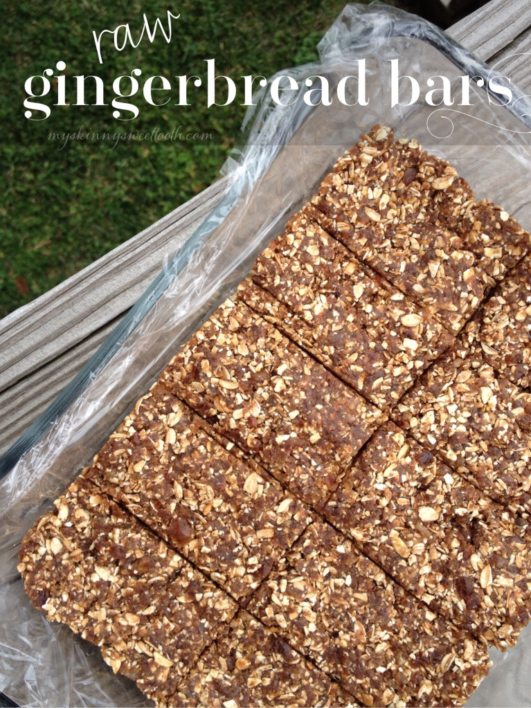 raw gingerbread bars | my skinny sweet tooth