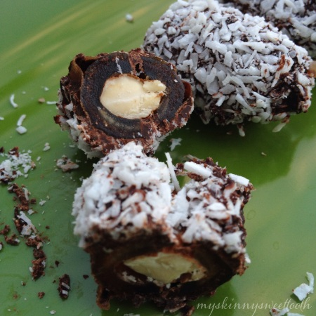 almond joy bites | my skinny sweet tooth