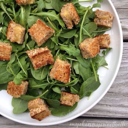 grilled cheese croutons | my skinny sweet tooth