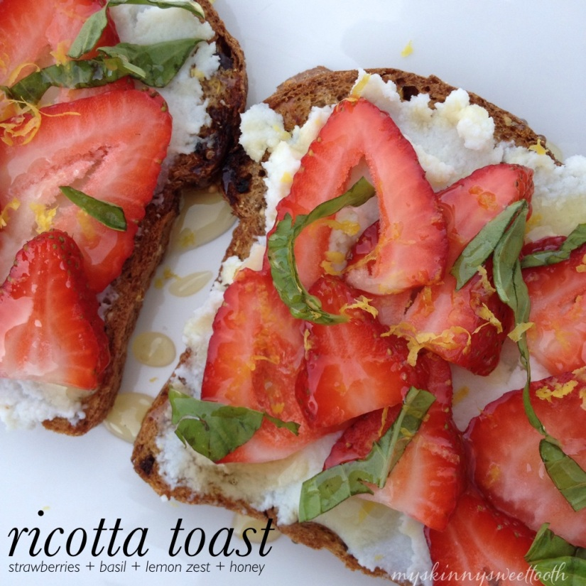 ricotta toast | my skinny sweet tooth