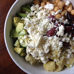 greek chickpea salad | my skinny sweet tooth