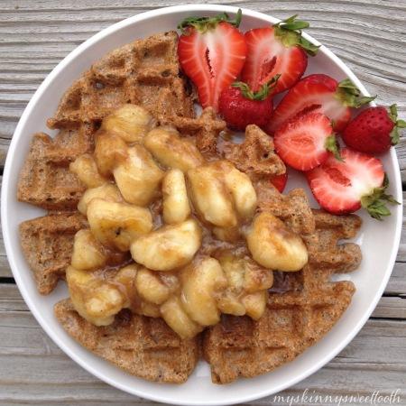bananas foster waffle | my skinny sweet tooth