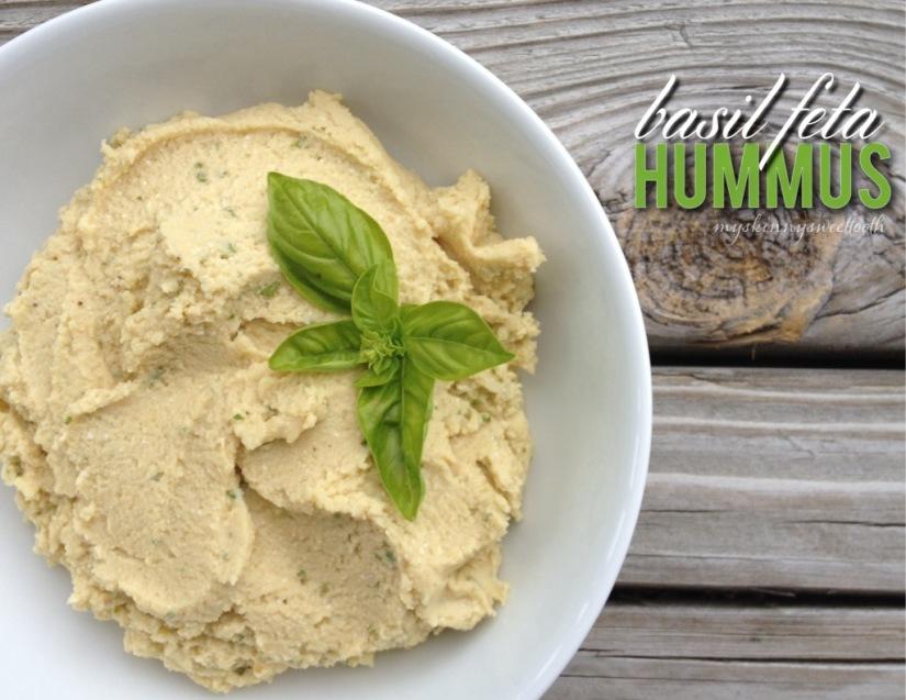 basil feta hummus | my skinny sweet tooth