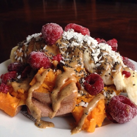 loaded breakfast sweet potatoes | my skinny sweet tooth