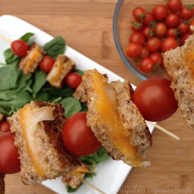 grilled cheese & tomato skewers | my skinny sweet tooth