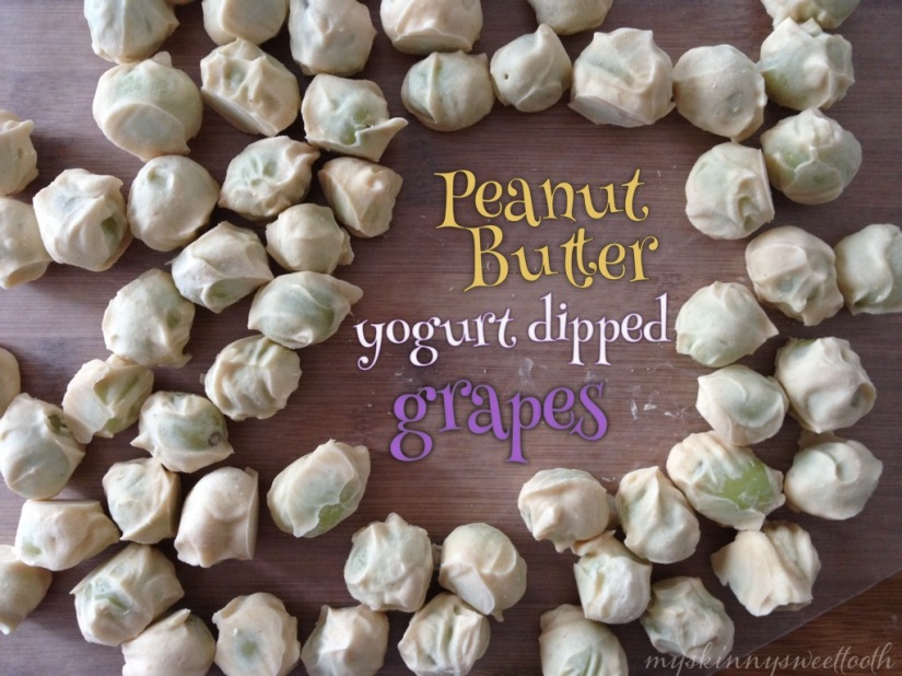 peanut butter yogurt dipped grapes | my skinny sweet tooth