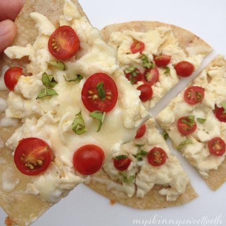 margherita breakfast pizza |my skinny sweet tooth