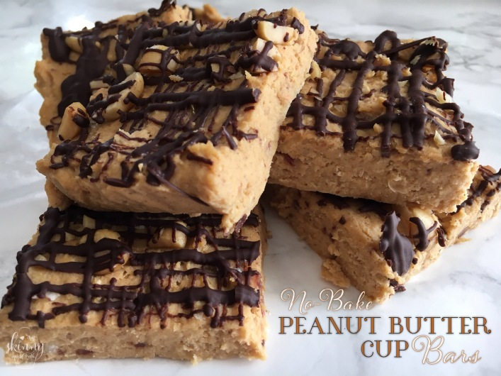 No-Bake Peanut Butter Cup Bars | my skinny sweet tooth