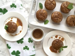 Sticky Toffee Cakes with Sweet Guinness Glaze | my skinny sweet tooth