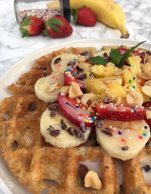 Banana Split Waffle   my skinny sweet tooth
