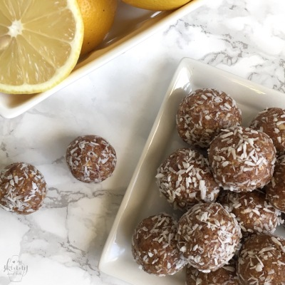 Lemony Coconut Bliss Balls | My Skinny Sweet Tooth