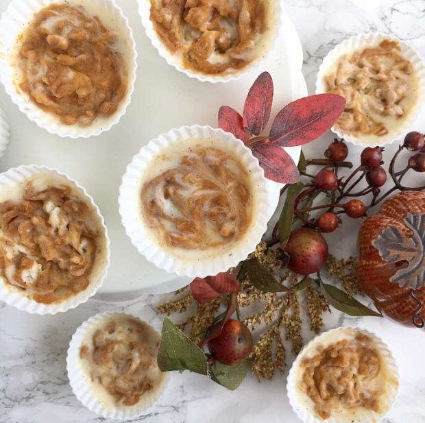 Pumpkin Swirl Ice Cream Cupcakes | My Skinny Sweet Tooth