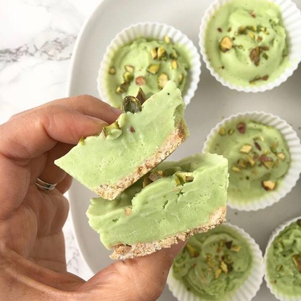 Pistachio Cardamom Ice Cream Cupcakes | My Skinny Sweet Tooth