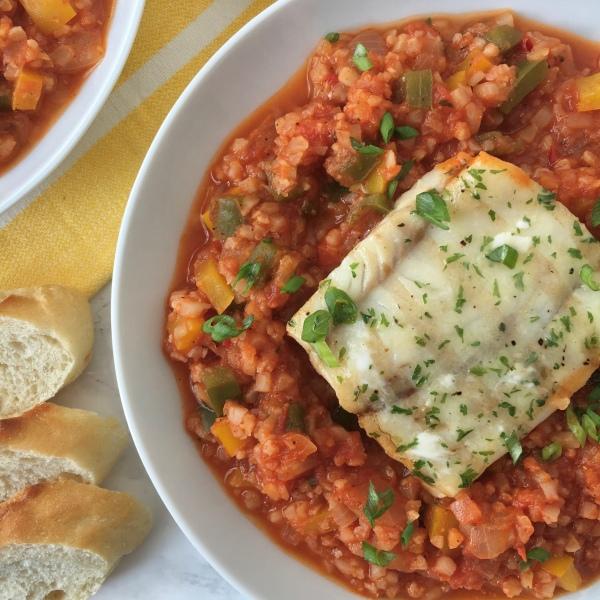 Skinny Cajun Seafood Jambalaya | My Skinny Sweet Tooth